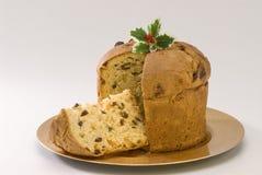Dulce de la Navidad. Panettone. Fotografía de archivo