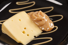 Dulce de leche with cheese Royalty Free Stock Photography