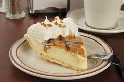 Dulce De Leche Cream Pie Stock Photography