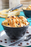 Dulce de Leche Ice Cream with Chocolate Chips Royalty Free Stock Photography