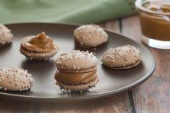 Dulce De Leche Macaron Imagen de archivo