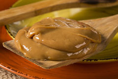 Dulce de leche, (Doce de leite) a sweet made from milk, made in Royalty Free Stock Photography