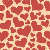 Dulce del color todo el modelo de la tarjeta del día de San Valentín del día de los amantes Fondo inconsútil del vector Fotografía de archivo libre de regalías