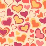 Dulce del color todo el modelo de la tarjeta del día de San Valentín del día de los amantes Fondo inconsútil del vector Foto de archivo libre de regalías
