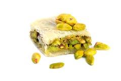 Dulces árabes de los pistachos Fotos de archivo