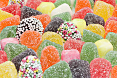 Dulces coloridos Fotos de archivo libres de regalías