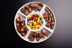 Dulces coloridos del chocolate Imagen de archivo libre de regalías