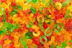 Dulces coloridos del maniquí de la jalea Fotografía de archivo