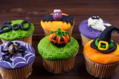 Dulces de Halloween, confitería hecha en casa, comida del día de fiesta, truco o fotografía de archivo libre de regalías