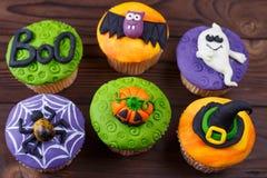 Dulces de Halloween, confitería hecha en casa, comida del día de fiesta, truco o fotos de archivo libres de regalías