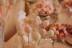 Dulces de la boda Fotografía de archivo