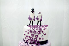 Dulces de la boda, torta del arándano Fotografía de archivo