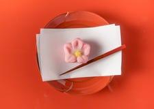 Dulces de la confitería de Wagashi del japonés Imágenes de archivo libres de regalías