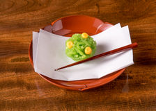 Dulces de la confitería de Wagashi del japonés Imagenes de archivo