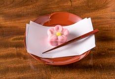 Dulces de la confitería de Wagashi del japonés Foto de archivo libre de regalías