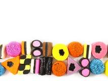 Dulces del caramelo con regaliz Fotografía de archivo libre de regalías