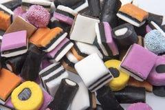 Dulces del caramelo del regaliz Imagen de archivo libre de regalías