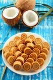 Dulces dulces del coco de la comida dulce del vegano de Diwali del indio Fotografía de archivo libre de regalías