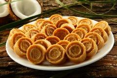 Dulces dulces del coco de la comida dulce del vegano de Diwali del indio Foto de archivo libre de regalías