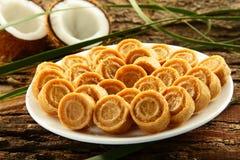 Dulces dulces del coco de la comida dulce del vegano de Diwali del indio Fotos de archivo libres de regalías