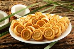Dulces dulces del coco de la comida dulce del vegano de Diwali del indio Imagen de archivo libre de regalías