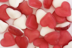 Dulces del corazón del amor Foto de archivo libre de regalías