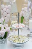 Dulces deliciosos de la boda Fotografía de archivo