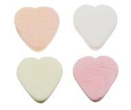 Dulces en forma de corazón del caramelo Fotos de archivo