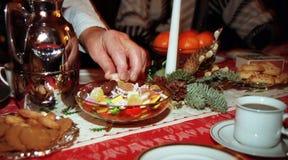 Dulces en Navidad Imagen de archivo libre de regalías