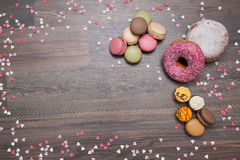 Dulces, fondo, Macaron Foto de archivo