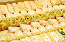 Dulces frescos libaneses Foto de archivo libre de regalías