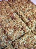 Dulces hechos en casa - flapjacks y brownie Fotografía de archivo