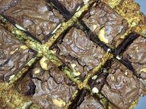 Dulces hechos en casa - flapjacks y brownie Imagen de archivo libre de regalías