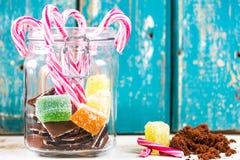 Dulces mezclados Foto de archivo libre de regalías