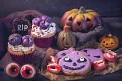 Dulces para el partido de Halloween foto de archivo libre de regalías