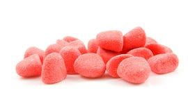 Dulces rojos del caramelo de azúcar Foto de archivo libre de regalías