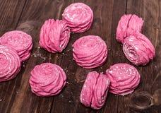 Dulces rosados Fotos de archivo libres de regalías
