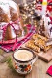 Dulces típicos tradicionales para la Navidad en Italia Cafés de NU imágenes de archivo libres de regalías