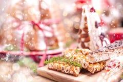 Dulces típicos tradicionales para la Navidad en Italia Cafés de NU fotos de archivo