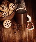Dulces tradicionales de la Navidad Foto de archivo