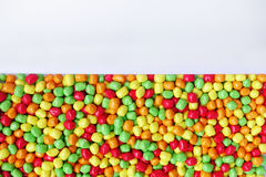 Dulces y caramelos de azúcar coloridos Foto de archivo