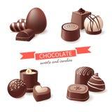 Dulces y caramelos del chocolate ilustración del vector