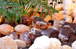 Dulces y galletas de la Navidad Fotografía de archivo