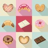 Dulces y pasteles del vintage ilustración del vector