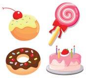 Dulces y tortas ilustración del vector