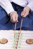Dulcimero di legno tailandese Fotografia Stock