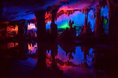 Dule Cave Liuzhou, Kina Royaltyfria Foton