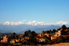 dulikhel喜马拉雅山 库存照片