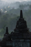 Dull light at Borobudur stupa sculpture Stock Image