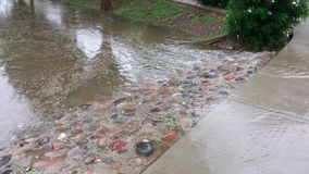Flood overflow, monsoon season in Phoenix AZ Royalty Free Stock Photos